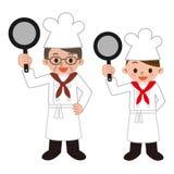 Hommes et femmes des cuisiniers illustration stock