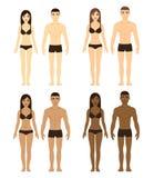 Hommes et femmes divers illustration stock