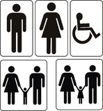 Hommes-femmes Photo libre de droits