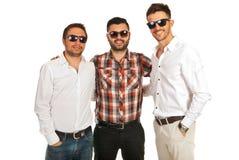 Hommes heureux d'amis Photographie stock libre de droits