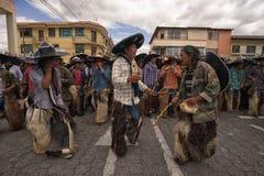 Hommes indigènes de danse de kichwa Photos libres de droits