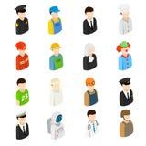 Hommes isométriques de 16 professions différentes Photo libre de droits