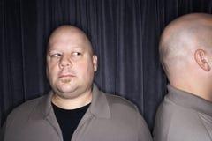 Hommes jumeaux chauves. Images libres de droits