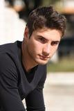 Hommes magnifiques de modèle de type de cheveu Photographie stock libre de droits