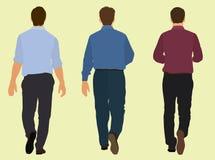 Hommes marchant loin Photos libres de droits