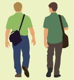 Hommes marchant loin illustration de vecteur