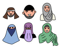 Hommes principaux et femmes musulmans musulmans Photos libres de droits