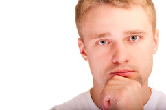 hommes proches de visage vers le haut Photographie stock libre de droits