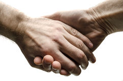Hommes retenant des mains Image stock