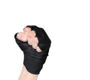 hommes s de main de gant intenses Images libres de droits