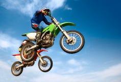 Hommes sur la moto Photos stock