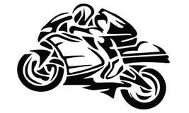 Hommes sur le motobike Photos stock