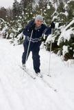 Hommes sur le ski Photographie stock libre de droits