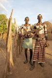 Hommes tribals africains Photographie stock