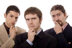 hommes trois Image libre de droits