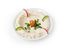 Hommos Plate - Lebanese Cuisine . Royalty Free Stock Photos