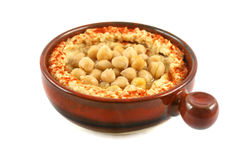 Hommus And Chickpeas Stock Image