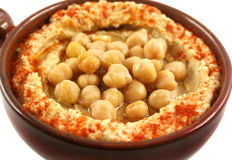 Hommus And Chickpeas Stock Photos