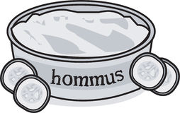 Hommus Dip & Cucumber Royalty Free Stock Photos