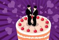 homoäktenskap Arkivbilder