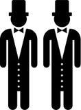 homoäktenskap royaltyfri illustrationer