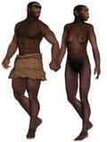 Homo Erectus. 3d render of a Homo Erectus Royalty Free Stock Photo