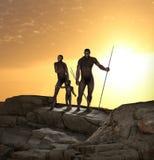 Homo erectus-Menschen-Vorfahr lizenzfreie abbildung