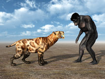 Habilis - Human Evolution Royalty Free Stock Photos