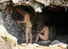 Homo sapiens cave dwellers Royalty Free Stock Images