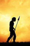 Homo sapiens. Illustration of Homo sapiens at sunset Royalty Free Stock Photos