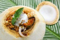 homok еды кокоса Стоковое Изображение