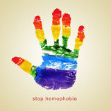 Homophobia στάσεων Στοκ φωτογραφία με δικαίωμα ελεύθερης χρήσης
