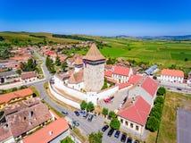 Homorod Fortyfikował Kościelną budowę Niemieckimi sasami w Transylva Obraz Royalty Free