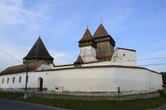 Homorod stärkte kyrkan, Transylvania, Rumänien Arkivbild