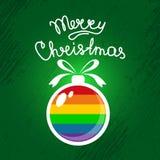 Homoseksualista christmas-11 ilustracja wektor
