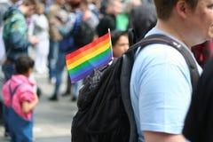 Homoseksualista flaga Obrazy Royalty Free