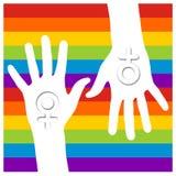 homoseksualista wręcza lesbian Obraz Royalty Free