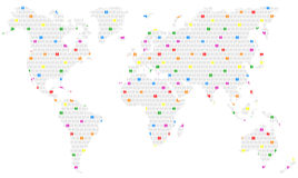 Homoseksualiteit wereldwijd Stock Foto
