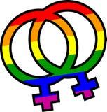 homoseksualna duma jej i jej symbol Zdjęcia Stock