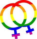 homoseksualna duma jej i jej symbol Zdjęcia Royalty Free