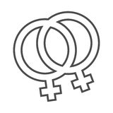 homoseksualna duma jej i jej symbol Obraz Stock