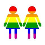 homoseksualna duma jej i jej symbol Fotografia Royalty Free