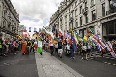 Homoseksualna duma Londyn 2014 Zdjęcie Stock