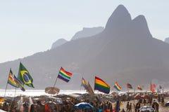 Homoseksualna duma w Ipanema plaży Obraz Royalty Free