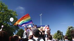 Homoseksualna duma w zwolnionym tempie tanczy LGBT ludzi newsworthy zbiory