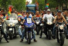 homoseksualna motocyklu Paris awangarda Zdjęcie Stock