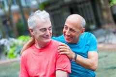 Homoseksualna para w Nowy Jork fotografia royalty free