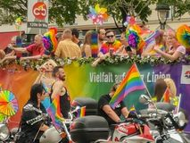 Homoseksualna parada Vienna obraz stock