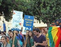 Homoseksualna parada W Jerozolima Obraz Stock