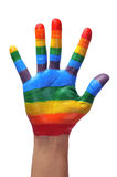 homoseksualna ręka Zdjęcia Royalty Free
